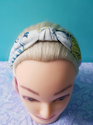 Tropical on White Head Band