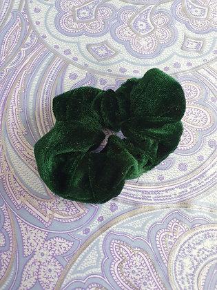 Hand Made Scrunchie - Dark Green Velvet