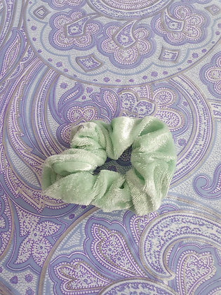 Hand Made Scrunchie - Mint Velvet