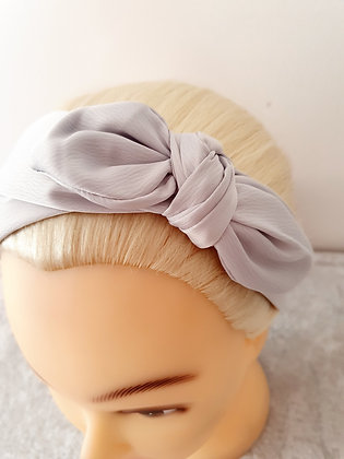 Silver Wire Bow Head Band