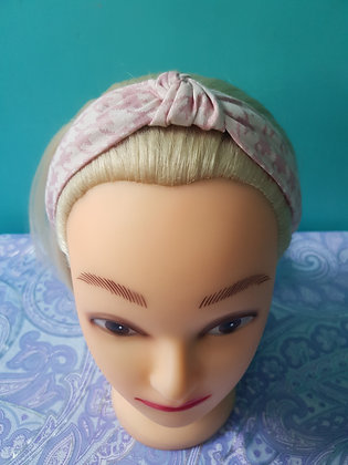 Pink Houndstooth Head Band