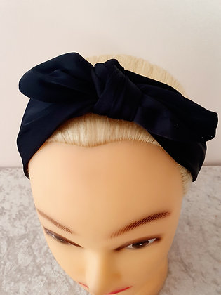 Navy Wire Bow Head Band