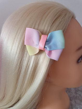 Pastel Rainbow Hair Bow