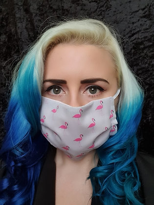 Flamingo Grey Face Mask