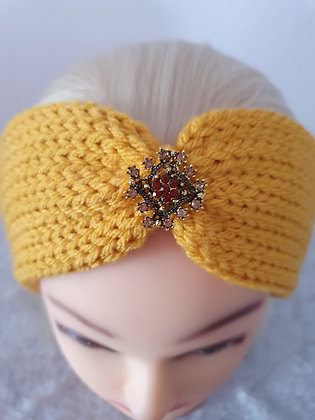 Mustard Knitted Head Band