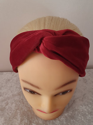 Red Velvet Elasticated Head Band