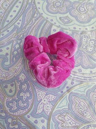 Hand Made Scrunchie - Purpley Pink Velvet