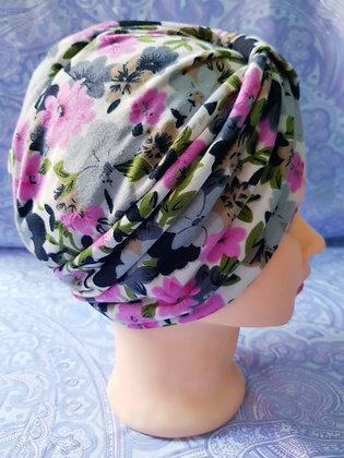 Pink in Autumn Bloom Chemo Cap Turban