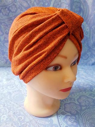 Orange Chemo Cap Turban