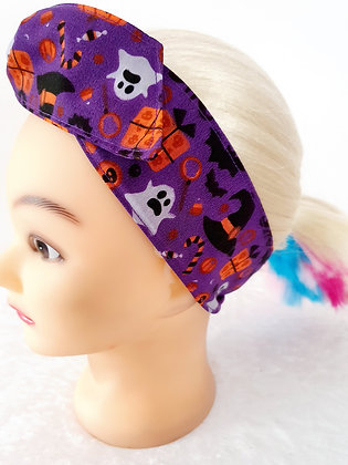 Spookies on Purple Wired Hair Tie