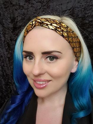 Gold Mermaid Elasticated Head Band