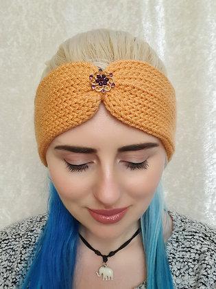 Peach Knitted Ear Warmer