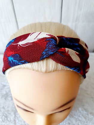 Red Leaves Elasticated Head Band
