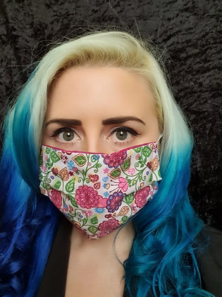 Pretty Floral Face Mask