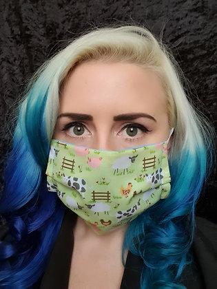 Green Farmyard Face Mask