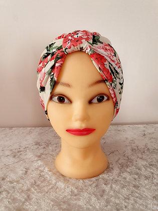 Vintage Floral on Cream Chemo Cap