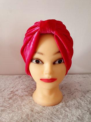 Pink Velvet Turban