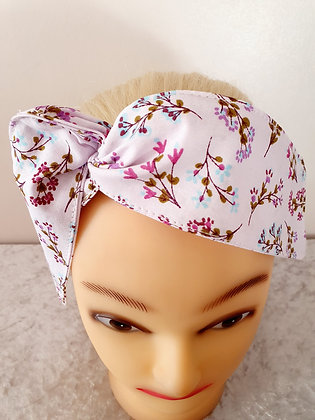Pink Little Floral Wired Hair Tie