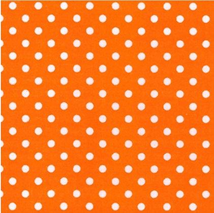 Orange Polka Face Mask