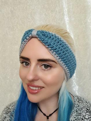 Dusty Blue Hand Crochet Head Band