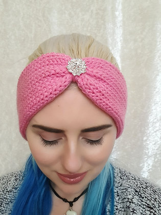 Candyfloss Pink Knitted Head Band