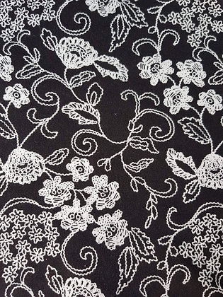 Lace Print on Black - Picc Line Cover