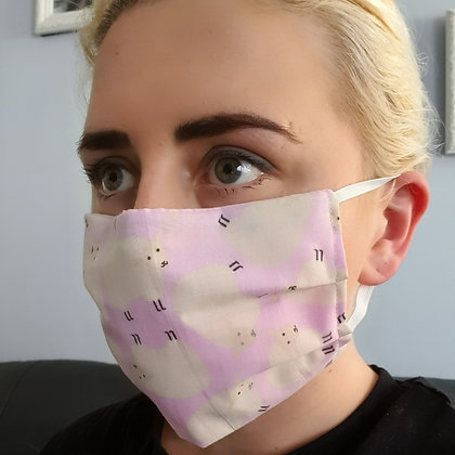 Pink Sheep Face Mask