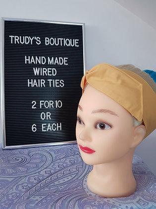 Mustard Wired Hair Tie