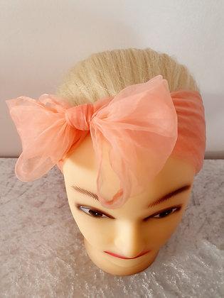 Pale Pink Chiffon Head Scarf