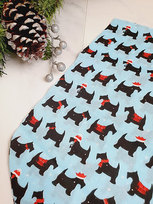 Blue Doggie Personalised Luxury Christmas Stocking