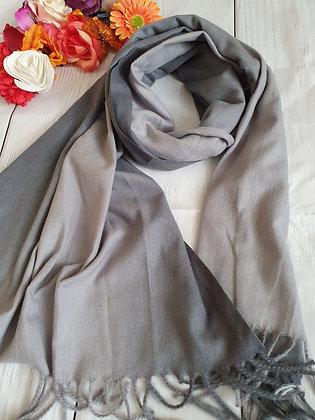 Grey Two Tone Super Soft Scarf