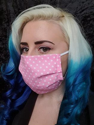 Light Pink Polka Face Mask