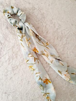 Long Tail Scrunchie Blue Floral