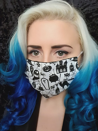 Nightmare Before Christmas Face Mask White