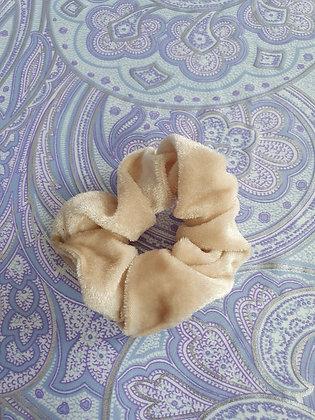 Hand Made Scrunchie - Beige Velvet