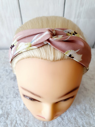 Delicate Floral Dusty Pink Elasticated Head Band