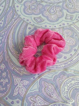 Hand Made Scrunchie - Pink Velvet