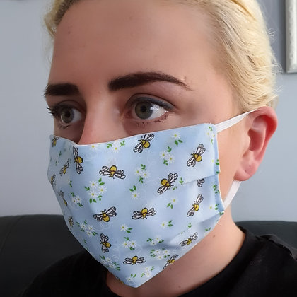 Bumble Bee Blue Face Masks