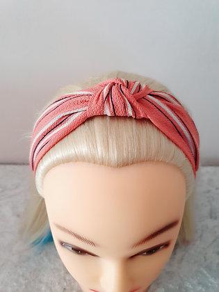 Pink Stripes Head Band