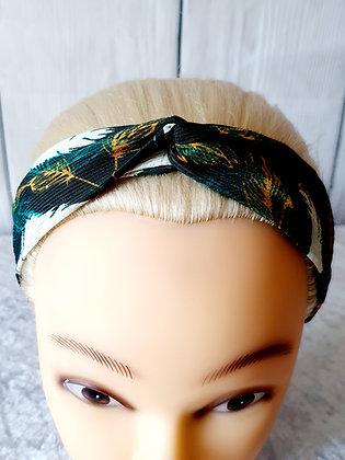 Green Tropical Elasticated Head Band