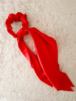 Long Tail Scrunchie Red