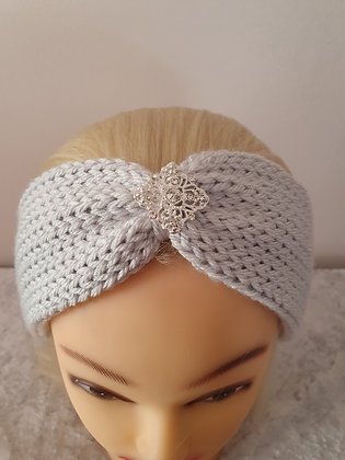 Silver Knitted Head Band