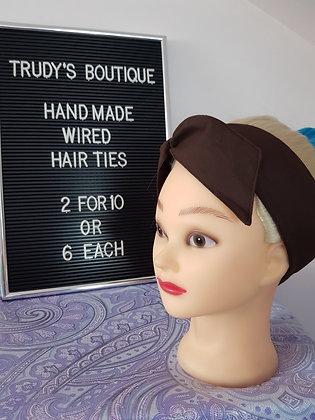 Dark Brown Wired Hair Tie