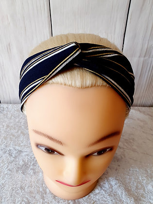 Black and Yellow Stripes Elasticated Head Band