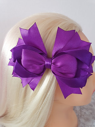 Large Purple Hair Bow