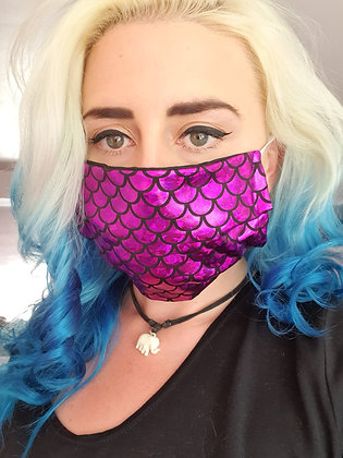 Purpley-Pink Mermaid Face Mask