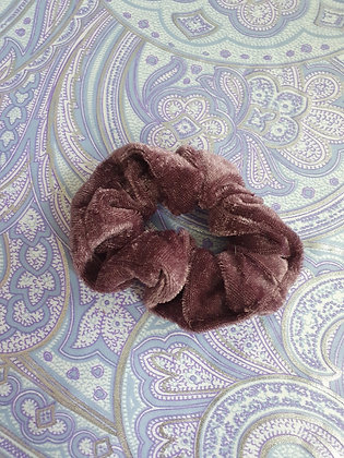 Hand Made Scrunchie - Brown