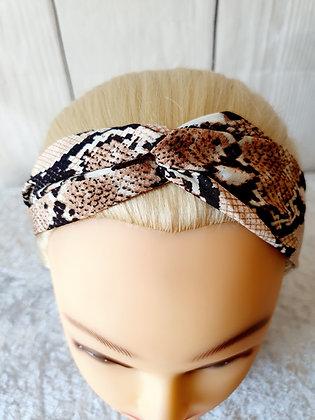 Snake Print Elasticated Head Band