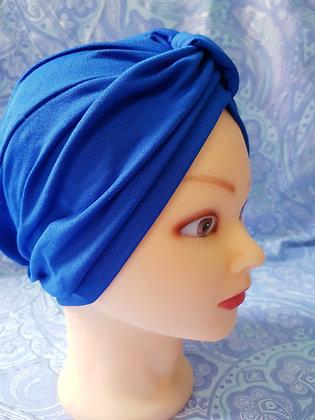 Royal Blue Chemo Cap Turban