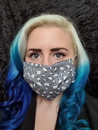 Sheep Blue/Grey Face Mask